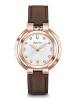 Bulova Rubaiyat Women's Watch 97P131 + Free Travel Clock