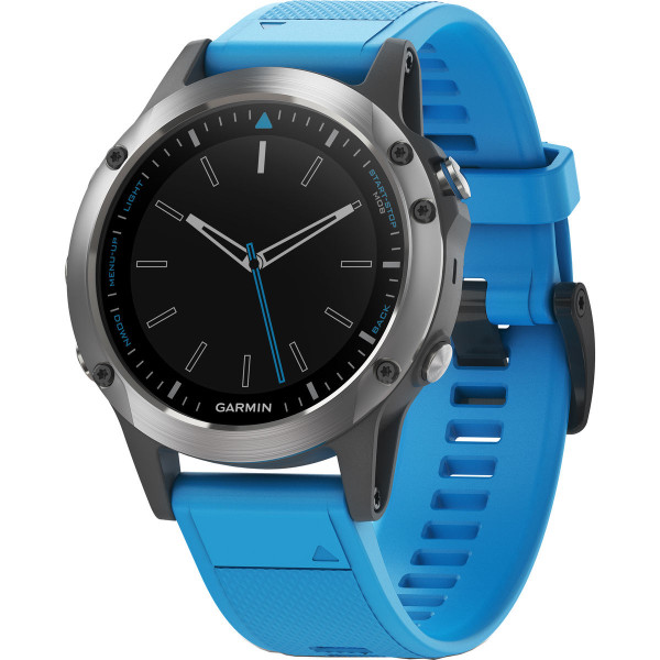 Garmin Quatix 5 GPS Watch Stainless Steel with Blue Band