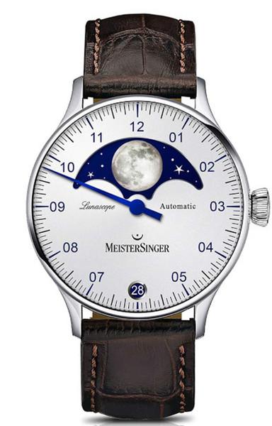 MeisterSinger Lunascope Opaline Silver LS901