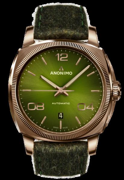 Anonimo EPURATO Automatic Bronze Case Green Galvanic Sunray Dial  AM-4000.04.466.F66