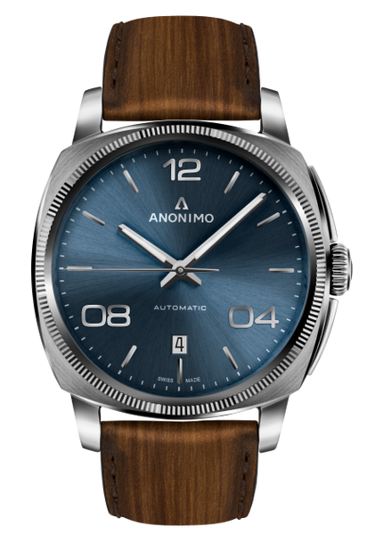 Anonimo EPURATO Automatic Stainless Steel Case Galvanic Blue Sunray Dial AM-4000.01.103.W22