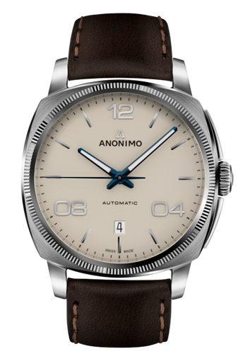 Anonimo EPURATO Automatic Stainless Steel Case Galvanic Sunray Cream Dial AM-4000.01.310.W42