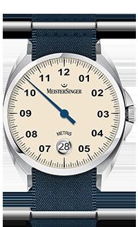 MeisterSinger Metris Ivory Dial ME903