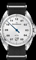 MeisterSinger Metris White Dial ME901
