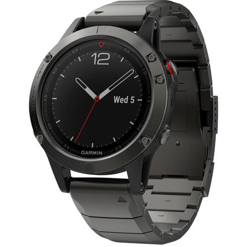 Garmin Fenix 5 GPS Watch Slate Gray Sapphire with Metal Band
