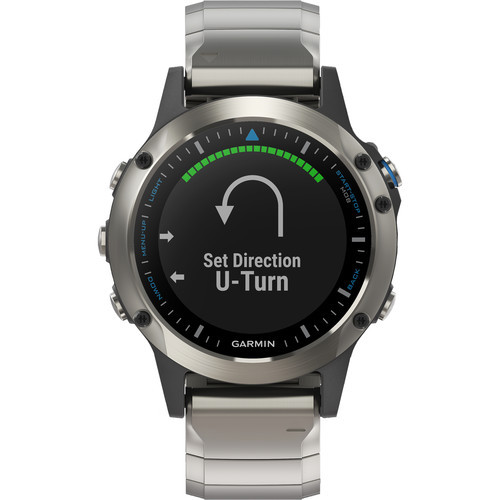 Garmin Quatix 5 GPS Watch Stainless Steel Sapphire with Metal Band