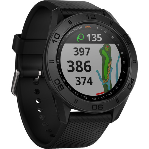 Garmin Approach S60 GPS Watch Black with Black Band