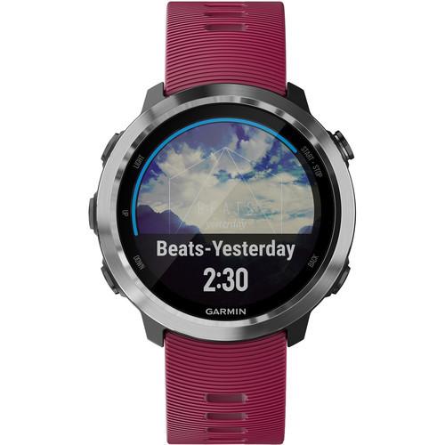 Garmin Forerunner® 645 Music Watch Cerise with Stainless Hardware