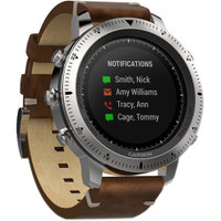 Garmin Fenix Chronos GPS Watch With Leather Band
