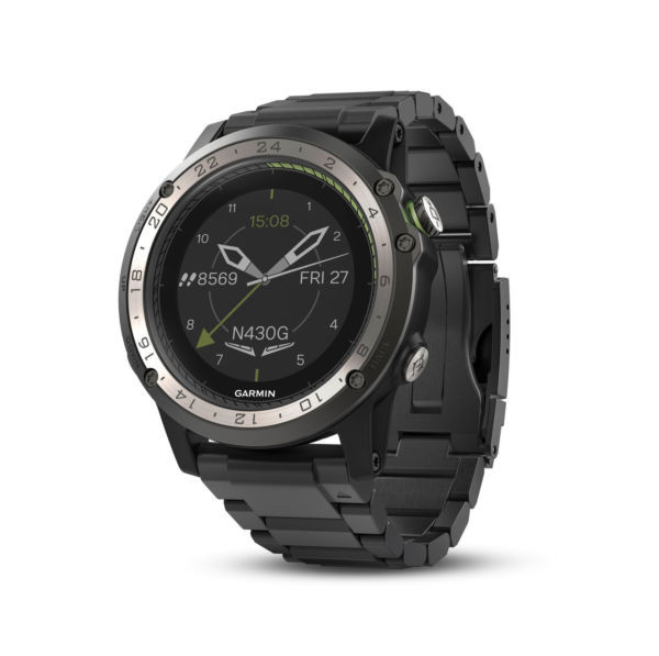 Garmin D2 Charlie GPS Aviator Navigation Watch Titanium Bezel with Titanium Band