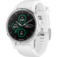 Garmin fenix 5S Plus Sapphire Edition Multi-Sport Training GPS Watch (42mm, White with Carrera White Band)