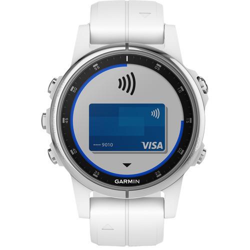Garmin fenix 5S Plus Sapphire Edition Multi-Sport Training GPS Watch (42mm, White with Carrera White Band)