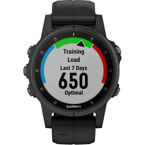 Garmin fenix 5S Plus Sapphire Edition Multi-Sport Training GPS Watch (42mm, Black with Black Band)