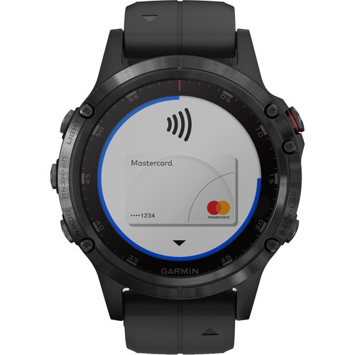 Garmin fenix 5S Plus Sapphire Edition Multi-Sport Training GPS Watch (47mm, Black with Black Band)