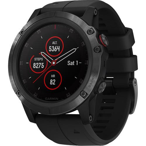 Garmin fenix 5S Plus Sapphire Edition Multi-Sport Training GPS Watch (51mm, Carbon Gray DLC Titanium with DLC Titanium Band)