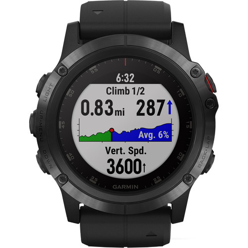 Garmin fenix 5S Plus Sapphire Edition Multi-Sport Training GPS Watch (51mm, Carbon Gray DLC Titanium with DLC Titanium Band)