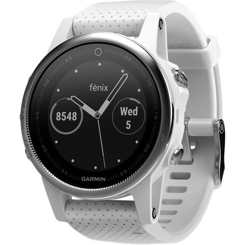 Garmin fenix 5S Multi-Sport Training GPS Watch (White, Carrara White Band)