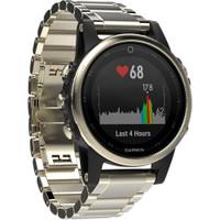 Garmin fenix 5S Sapphire Edition Multi-Sport Training GPS Watch (Champagne, Metal Band)
