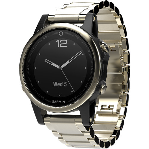 Garmin fenix 5S Sapphire Edition Multi-Sport Training GPS Watch (Champagne, Metal Band)