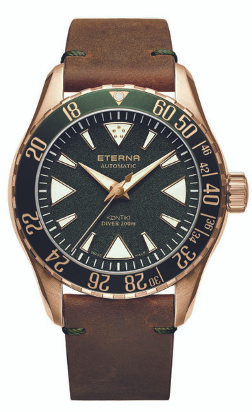 Eterna Kontiki Bronze Manufacture limited Edition 300 Pieces Worldwide Green Dial 1291.78.51.1430