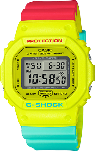Casio G-Shock Classic Breezy Rasta Color DW5600CMA-9
