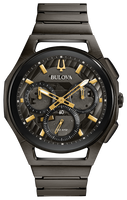 Bulova Men's Curv Chronograph  Ref: 98A206 + Free Travel Clock & Picture Frame Clock