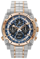 Bulova Men's  Precisionist Chronograph Watch- 98B317 + Free Travel Clock & Picture Frame Clock