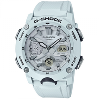 Casio G-Shock GA-2000S-7A White Front Button Watch