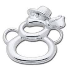 Sterling Silver Snowman Outline Clasp