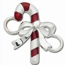 Convertible Sterling Silver Candy Cane Clasp