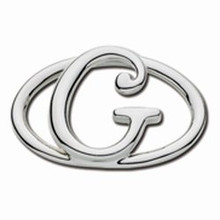 Convertible Sterling Silver G Initial Clasp
