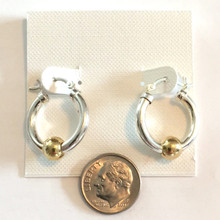 Sterling Silver and Gold Plate Ball Cape Cod Inspired Earrings Small