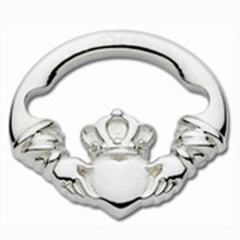 Convertible Sterling Silver Claddagh Circle Clasp
