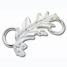 Convertible Sterling Silver Oak Leaf Clasp
