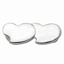 Convertible Sterling Silver Double Heart Clasp 3