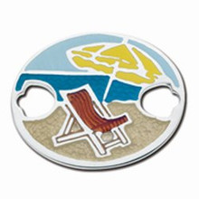 Convertible Sterling Silver and Enamel Beach Scene