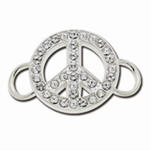 Convertible Sterling Silver and CZ Peace Sign