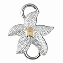 Convertible Sterling Silver and 14K Gold Starfish Swirl
