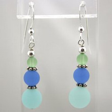 Sea Foam Sea Glass Drop Earrings