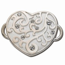 Convertible Valentine Heart Clasp with Swarovski Elements