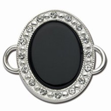 Convertible Diana Clasp with Onyx and Swarovski Elements
