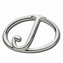 Convertible Sterling Silver J Initial Clasp