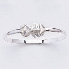 Sterling Silver Starfish and 2 Shell Bangle