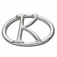 Convertible Sterling Silver K Initial Clasp