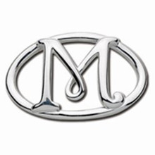 Convertible Sterling Silver M Initial Clasp