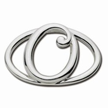 Convertible Sterling Silver O Initial Clasp