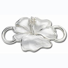 Convertible Sterling Silver Hibiscus Clasp