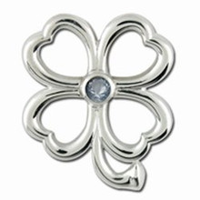 Convertible 4 Leaf Clover Birthstone Clasp March