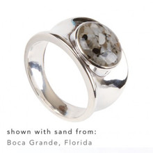 Sterling Silver Cape Cod Beaches Sand Ring