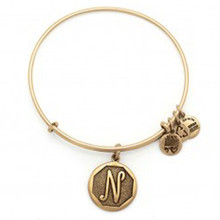 Alex and Ani N Initial Bangle Russian Gold